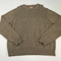 St. John's Bay Chunky Knit Sweater Mens 2XL XXL Long Sleeve Tan Crew Neck Cotton