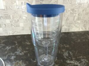 tervis wine glass 16oz Tumbler With blue lid new