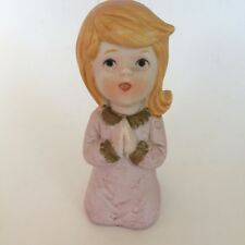 Vintage Homco Ceramic Kneeling Praying Girl Figurine #5211 Religious Home Decor