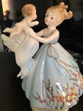 Vintage Josef Originals Rotating Musical Figurine Mother With Baby