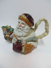 Fitz and Floyd Vintage Santa Teapot Classics Collection Clairmont