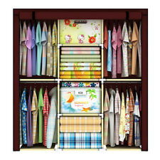 Home Portable Cloth Hanger Rack Shelf Closet Foldable Organizer Wardrobe Cabinet