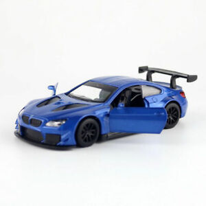 1:44 BMW M6 GT3 Racing Car Model Diecast Gift Toy Vehicle Kids Pull Back Blue