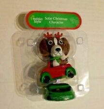 Solar Dancing Merry Christmas Reindeer Brown Dog & Car Character Collectible Nip