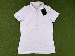 Women's PUMA Short Sleeve Golf Polo Lavender Heather SZ S ( 595826 23 )