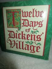 Collectible Dept. 56 12-Days of Dickens Village 3-French Hens Christmas