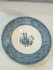 """Currier & Ives 5 1/2"""" Royal China Blue White Riverboat Plate Low Water  A7"""