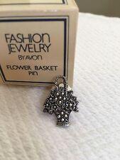 Vintage 1982 Avon Flower Basket Pin
