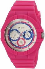 GUESS Women's PINK AND BLUE ANALOG SPORT WATCH 40mm U0942L3 BRAND NEW!