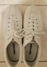 Tretorn Fashion Sneakers Canvas Tennis Shoes Women Size 8 White