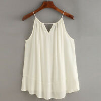 Women Summer Embroidered Sleeveless Casual Blouses Tank Tops T-Shirts Clothes