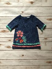 Nursery Rhyme Play Toddler Girl Embroidered Dress 18 Months Blue