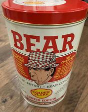 Bear Bryant Golden Flake Potato Chip Can Tin Canister Alabama Football 1981 VGUC