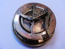 Antique Vintage Round Brass Sundial Compass Marine Collectible Gift