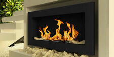 HQ Bio Ethanol Fireplace Design Eco Fire Burner 1l Fuel 900x400 Brown