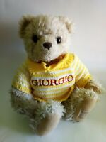 Vintage Giorgio Beverly Hills Plush Teddy Bear Knitted Jumper 14""