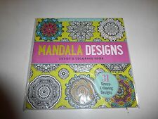 Mandala Designs Artists Coloring Book 31 Stress Relieving PB New182