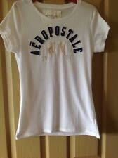 White navy grey Aeropostale NY 1987 Top Tee T-shirt size XL