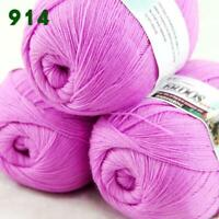 Sale 3 Skeins x 50g LACE Soft Acrylic Wool Cashmere Shawl Hand Knitting Yarn 914