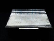 SANDWICH BOX STERLING SILVER, ITALIAN, ART DECO STYLE, 1930, GREAT QUALITY