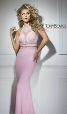 Tony Bowls Prom Dress Party  Evening  Long Sexy Color  Pink Size 6