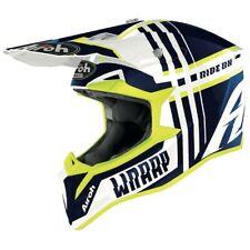 Airoh Wraap Roto Brillo Azul Motocross MX Enduro Moto de Cross Casco