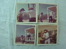 Lot of 4 Vintage 1973 Photos Cowboys Gun Fighting Shooting Guns 791004