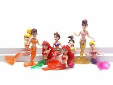 Princess Story The Little Mermaid Ariel Cake Topper Figures Toy Lot of 8pc US