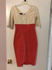 Hybrid Coral And Cream Pinup Dress Size 12(UK), 6 US