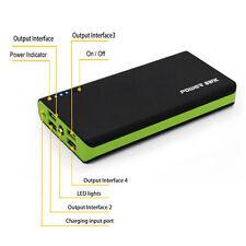 Green 400000mAh Dual 4 USB Portable Power Bank Battery Charger Mobile Phone ipad