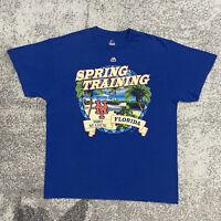 Majestic MLB New York Mets Spring Training Baseball Shirt Mens Large