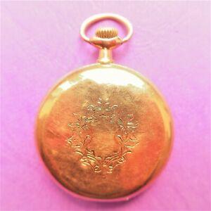 HERREN TASCHENUHR OMEGA, Gold - 14 K, Sprungdeckel,  gute Funktion, ca. 1910