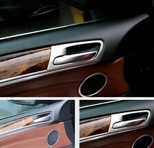Interior Doorknob Decorative Cover Trim Stainless Steel For BMW X5 E70 2008-2013