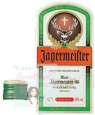JAGERMEISTER BOTTLE LABEL EDIBLE ICING CAKE TOPPER DECORATION