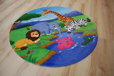 Niños Alfombra de Juego ENCANTADORA Niños Animales Zoo 100 cm redondo lk-403