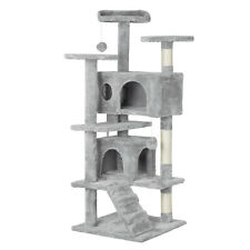 New Cat Tree Tower Condo Furniture Scratch Post Kitty Pet House Play, Light Gray