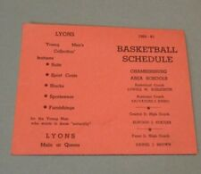 1960 Chambersburg High School Basketball Schedule Vintage Pennsylvania Sports