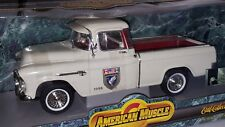 1/18 ERTL AMERICAN MUSCLE DUCKS UNLIMITED 1955 CHEVROLET 3100 CAMEO PICKUP od