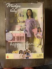 Barbie Happy Family Pregnant Midge and Baby Girl Doll Vintage 2002 Mattel Rare