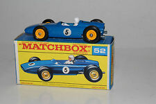 MATCHBOX LESNEY #52B BRM RACING CAR, BLUE, #5 DECAL, SCARCE BOXED TYPE F