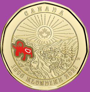 2021 Canada 125th Anniv. Klondike Gold Rush One Dollar Loonie. Mint UNC $1 Coin