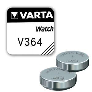 2x VARTA V364 Knopfzellen Uhrenbatterie Knopfzelle SR621SW LR621 AG1 Batterie