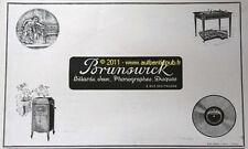 PUBLICITE BILLARD BRUNSWICK PHONOGRAPHE JEUX 1925 DECO