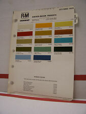 1974 Dodge Truck Pickup Paint Chips Color Chart R-M 74