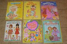 5 VINTAGE UNUSED PAPER DOLL BOOKS BABY TENDER LOVE THIS THAT STAR PRINCESS MORE