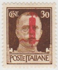 (IT221) 1944 Italy 30c Brown Red No5 Over Print owe63