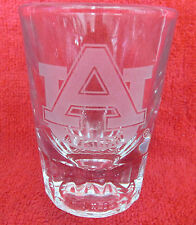 AUBURN UNIVERSITY     ETCHED SHORT SHOT GLASS