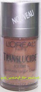 3x L'Oreal TRANSLUCIDE Lasting Luminous Powder for Face & Body - SUNLIGHT - NEW