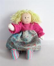 "Little Souls by Gretchen Wilson Rare 2001 10"" Ooak Handmade Rag Doll Blonde Hair"