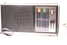 Vintage Sonix 4 Band Radio In Good Working Condition In Black and Silver